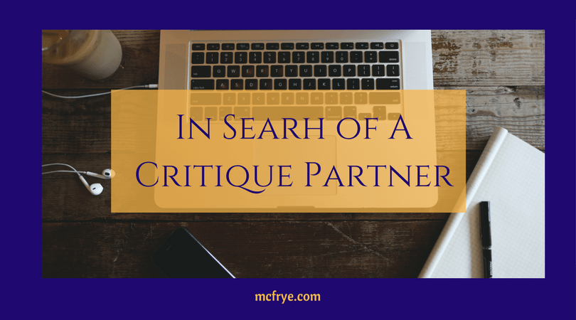 In Search of a Critique Partner.  Could you be the one?
