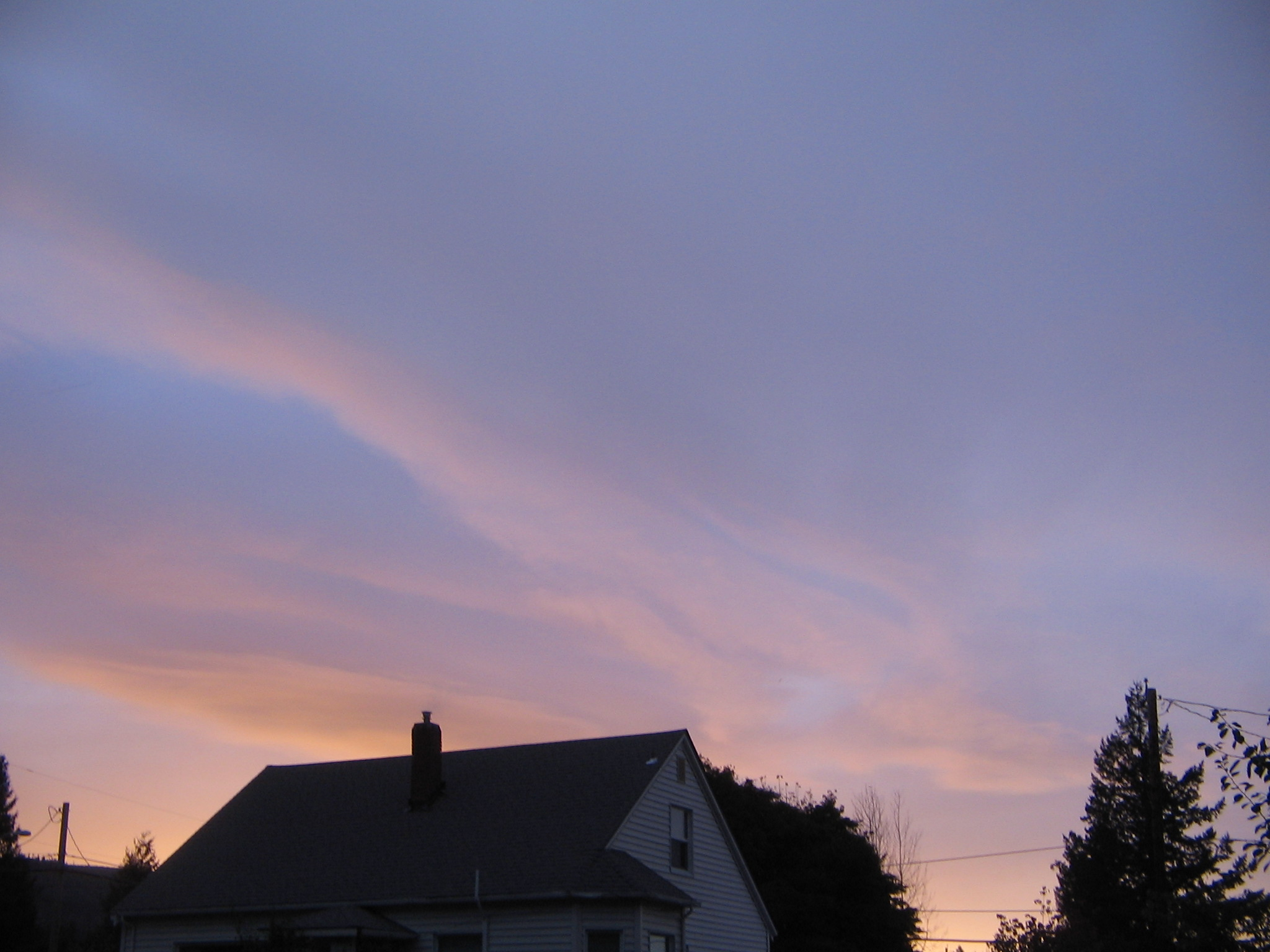The sky at 6 pm in October.