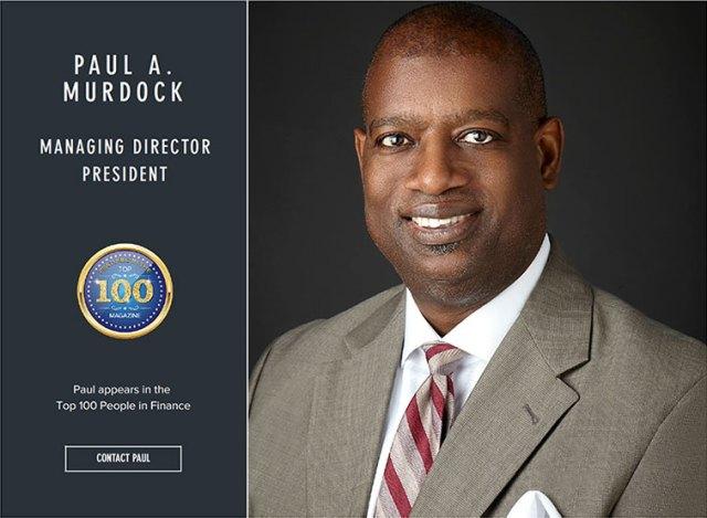 Paul Murdock named Top 100 in Finance
