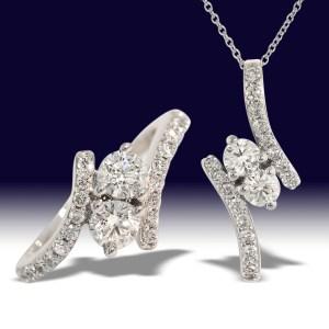 two stone diamond jewelry