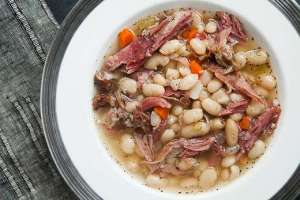 white-bean-ham-soup simplyrecipes.com