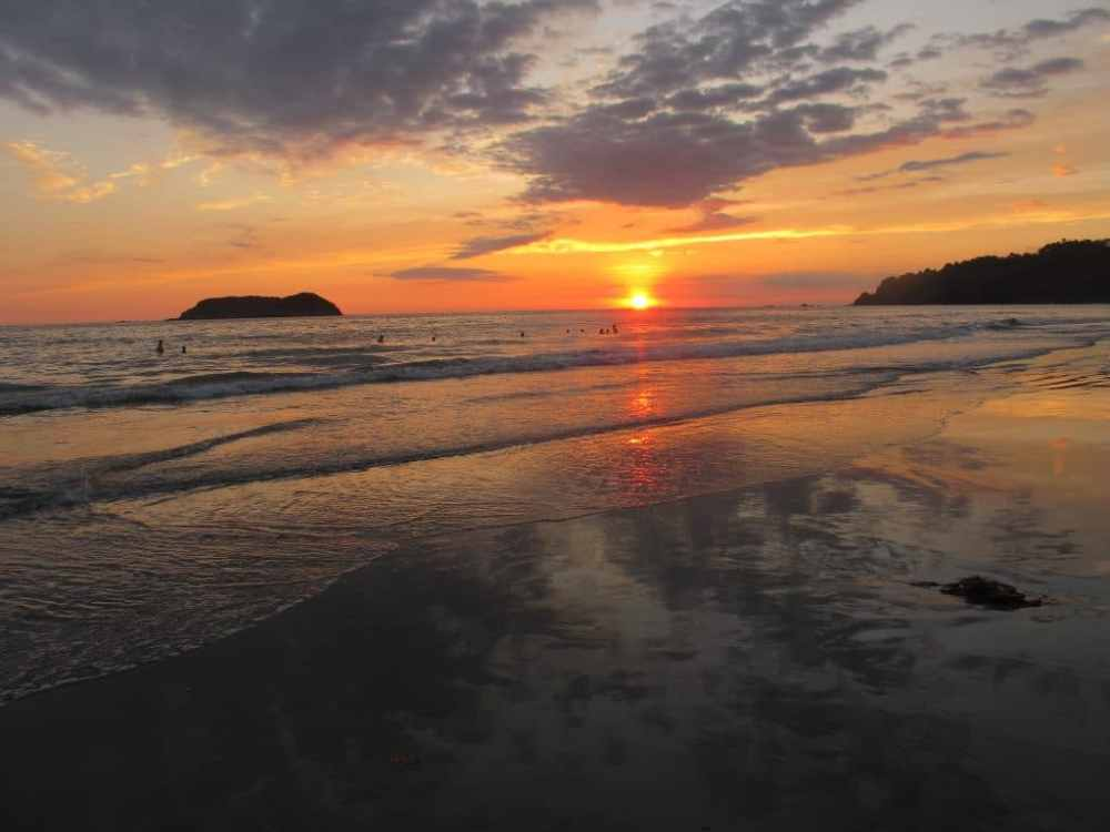 Coucher de soleil au parc Manuel Antonio Costa Rica