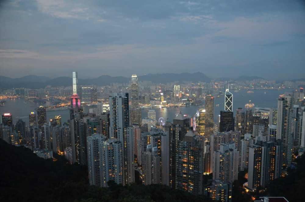 Vue sur Hong Kong depuis le Victoria Peak