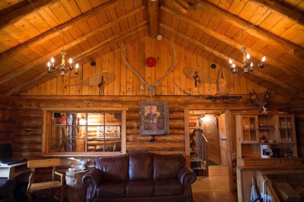 Intérieur du Lazy Bear Lodge à Churchill Manitoba