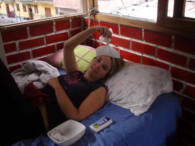 Maude malade au Pérou en 2009