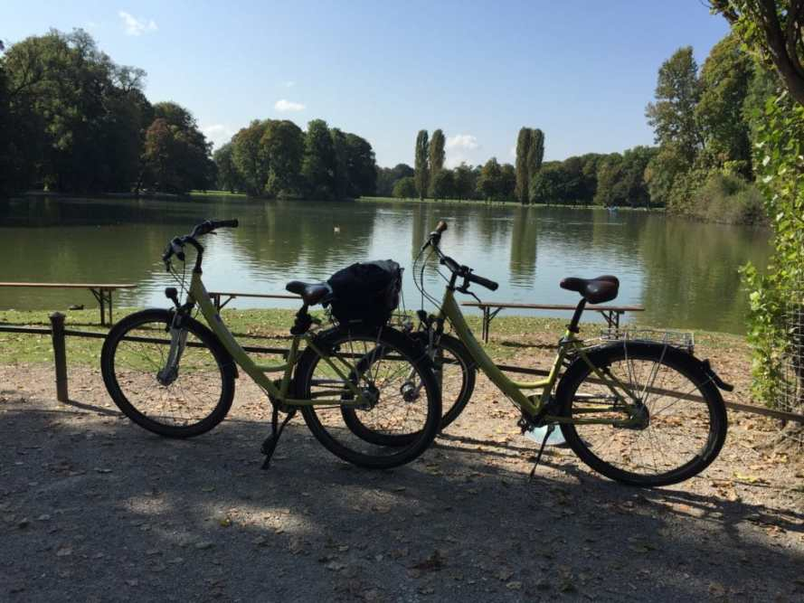 Faire du vélo à Munich au English Garden