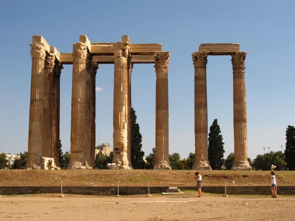 Temple de Zeus Athènes, Grèce
