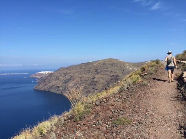 Randonnée de Fira à Oia à Santorini Grèce