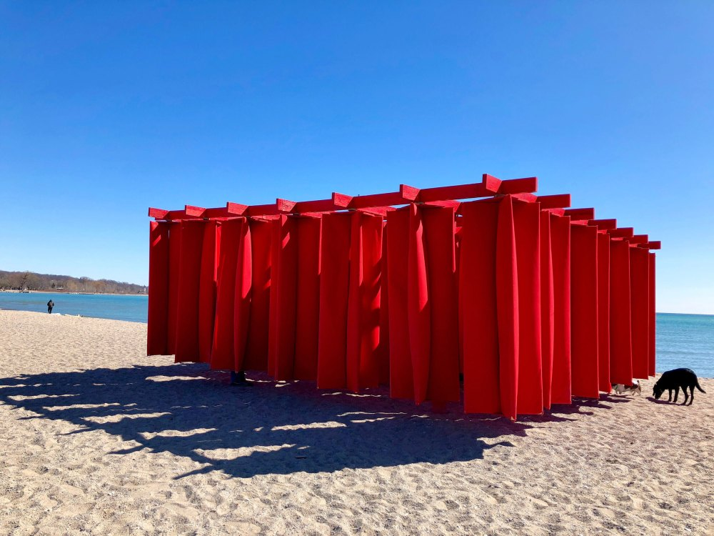 Art de plage pendant l'hiver dans le quartier The Beaches