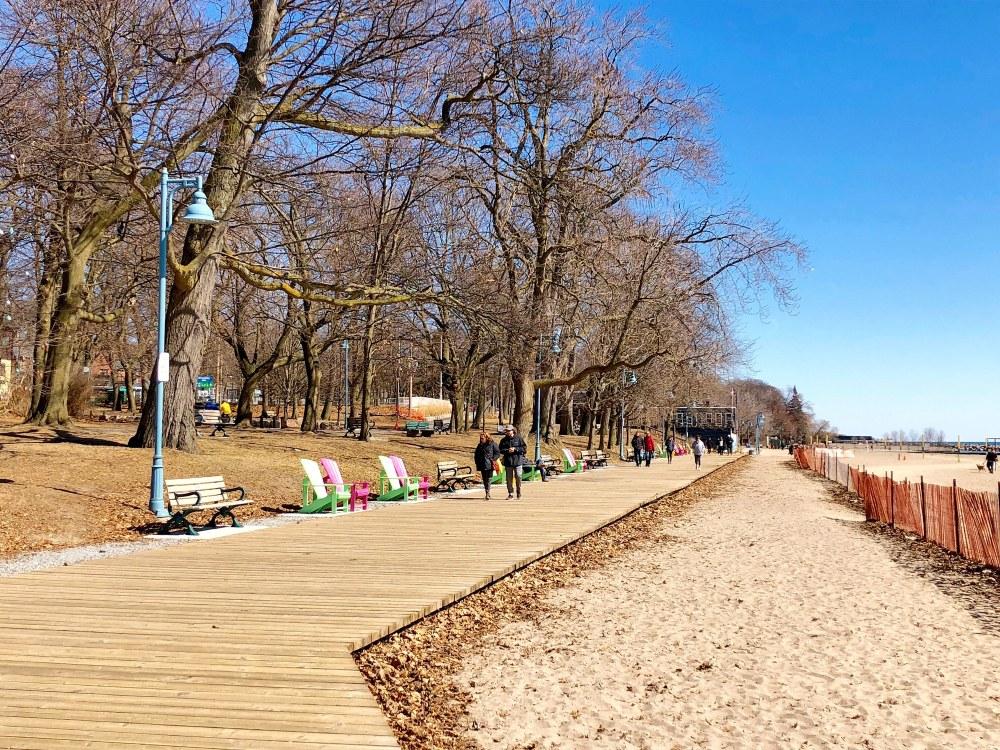 Boardwalk dans le quartier The Beaches
