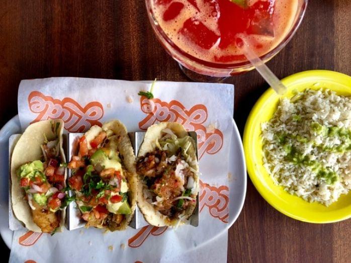 Trio de Tacos de chez Joyride Tacos, Mesa, Arizona