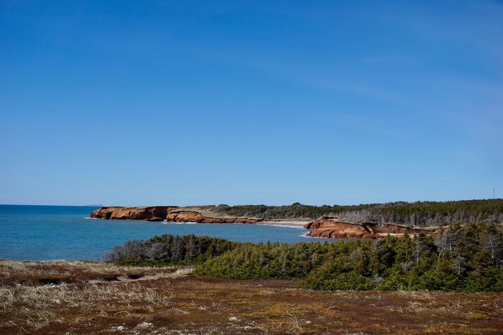 Paysage typique des Îles de la Madeleine, Grande Entrée