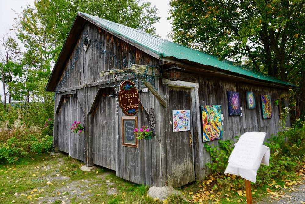 Poesie et couleurs de Marcel et Priscille sur le Chemin des Artisans en Appalaches