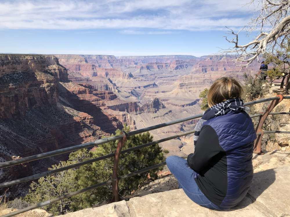 MCGlobetrotteuse au Grand Canyon Arizona