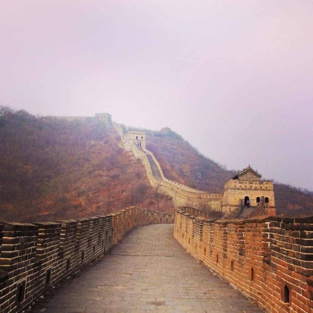 La Grande Muraille de Chine en février sans le moindre touriste.