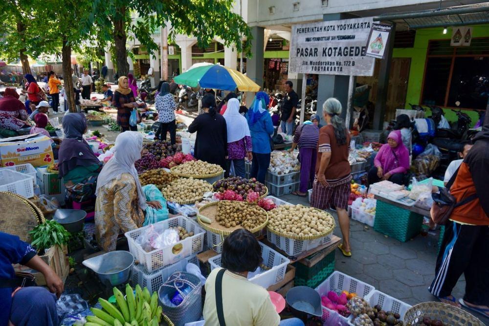 Le marché de Kotagede à Jogja