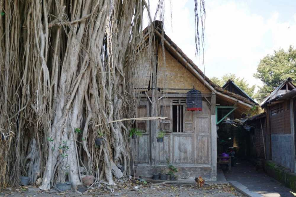 Une petite rue de Yogyakarta dans le quartier Kotagede, Indonésie