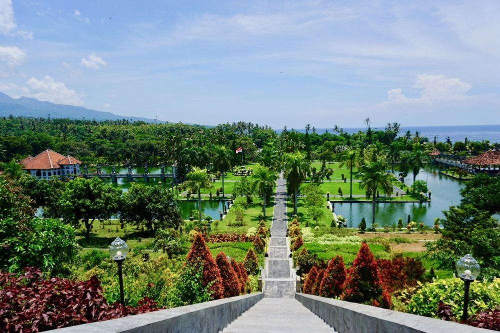 Vue du haut de Taman Soekasada Ujung, Bali