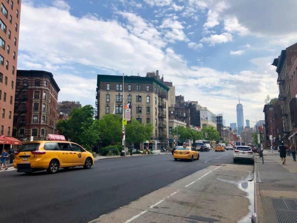 Rue dans le quartier Chelsea sur Manhattan