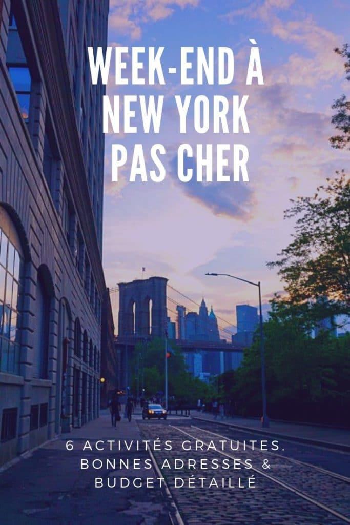 Week-end pas cher à New York: 6 activités gratuites, bonnes adresses et budget détaillé