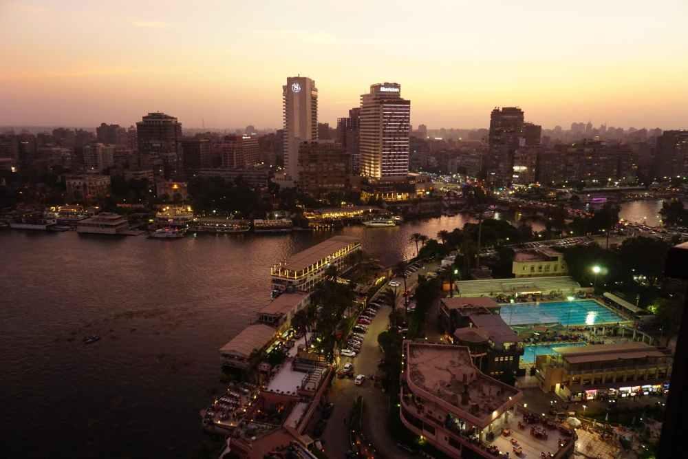 Coucher de soleil sur le Nil au Caire