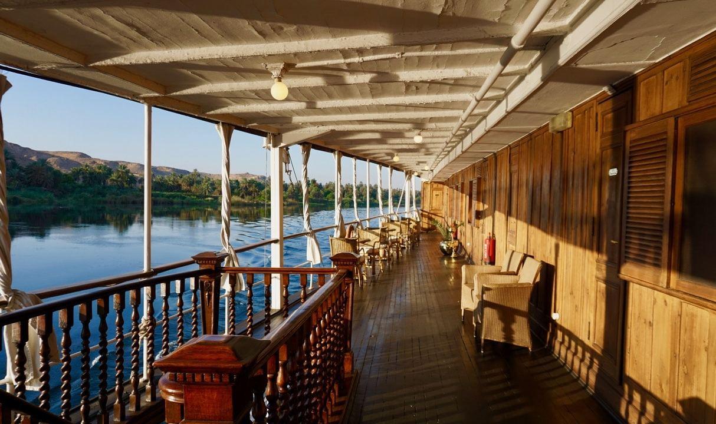 Pont inférieur du Steamship Sudan en Égypte