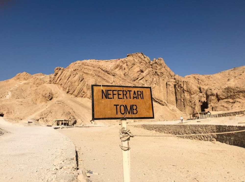 Tombeau de Nefertari dans la Vallée des rois et reines à Louxor Égypte