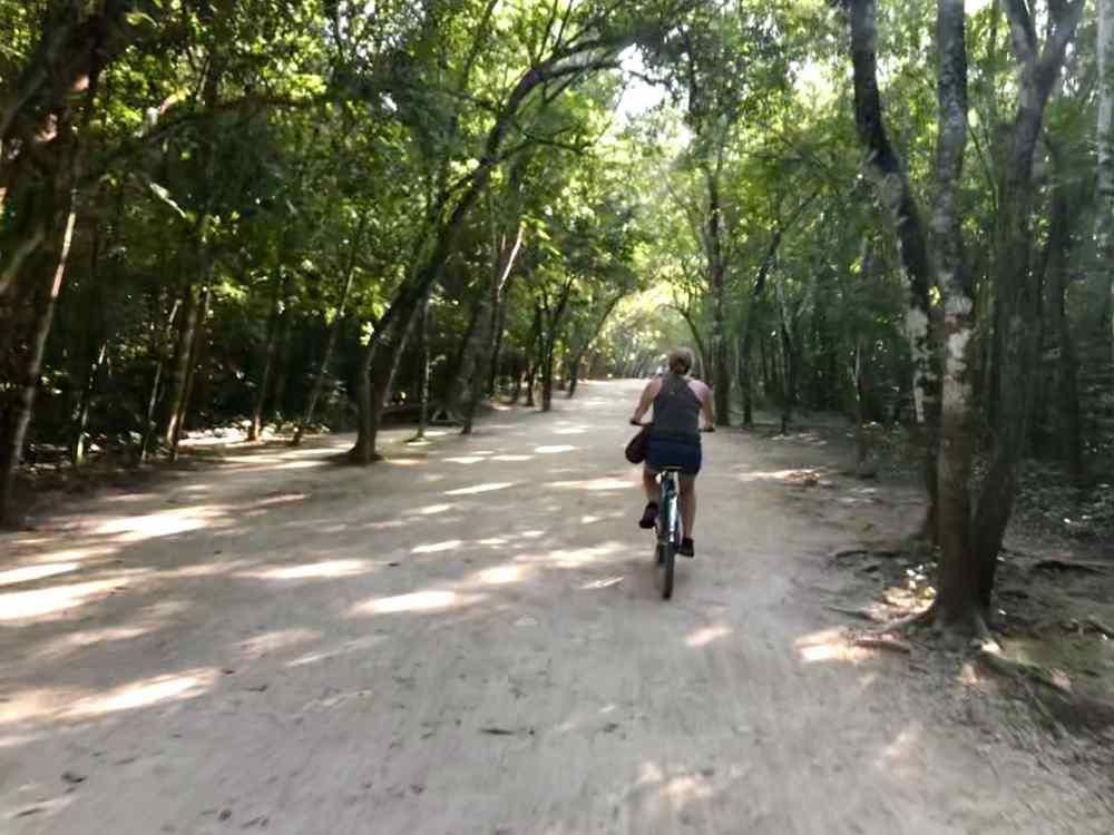 Velo à Coba, Ruines au Mexique Riviera Maya