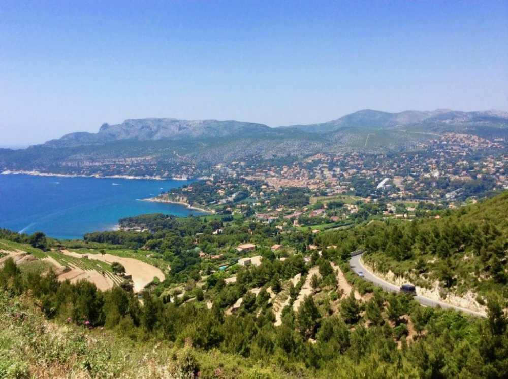 Vue sur Cassis depuis le Cap Canaille, Provence, France