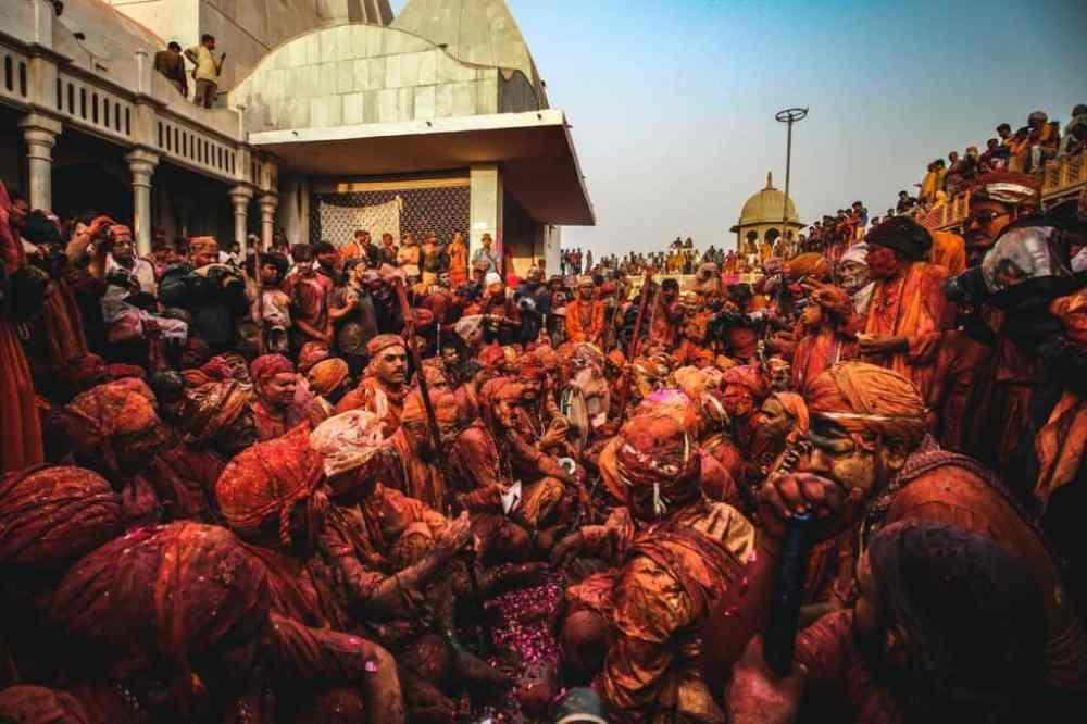 Festival coloré en Inde