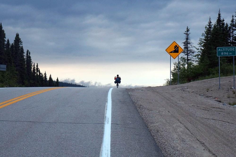 Sur les routes du Québec, à vélo, vers le Saguenay!