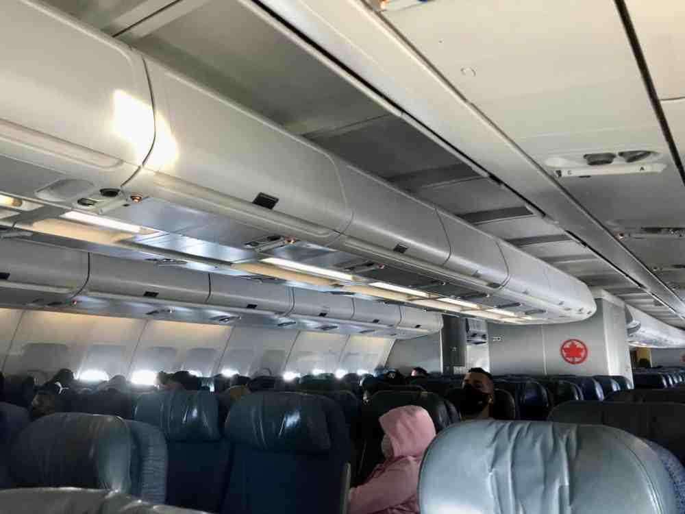 Intérieur avion Air Canada COVID