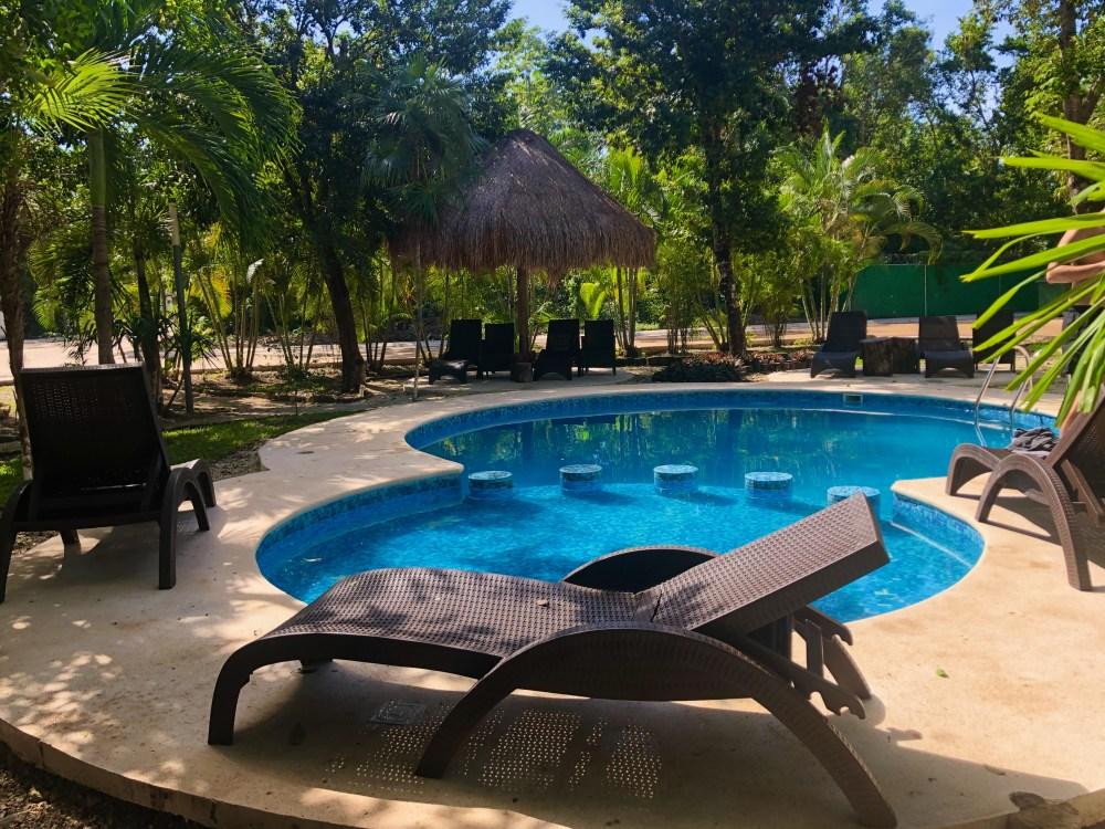 Piscine à Residencial Puntarena Puerto Morelos Mexique