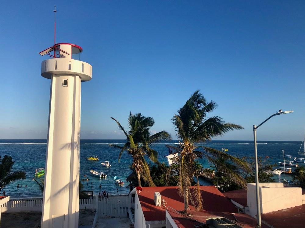 Vue de la Sirena à Puerto Morelos