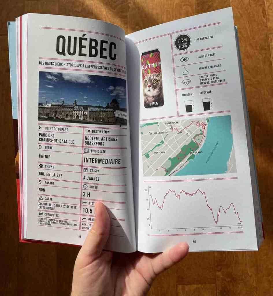 Randonnée dans la ville de Québec du guide Randos Bière au Québec de Bianca Pomerleau
