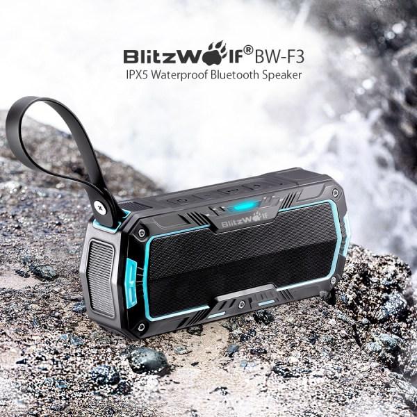 BlitzWolf® BW-F3 IP65 Waterproof Outdoor Sport Hand Free Portable 2*5W Wireless Bluetooth Speaker