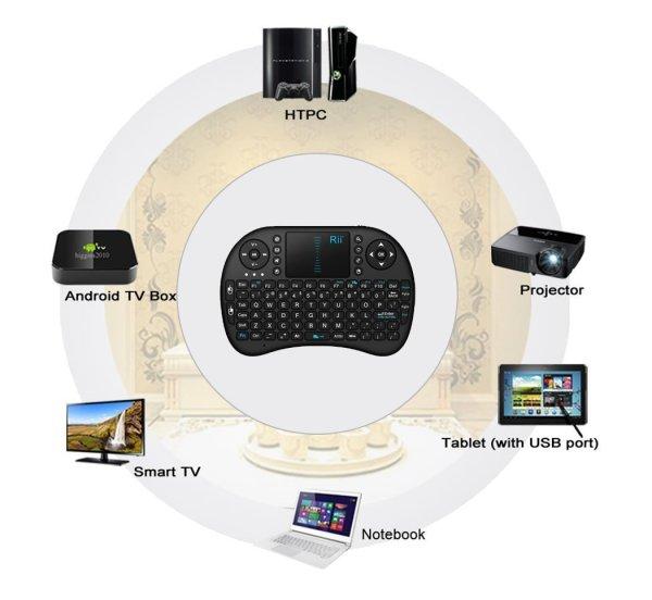 Rii i8 Multimédia vezeték nélküli billentyűzet