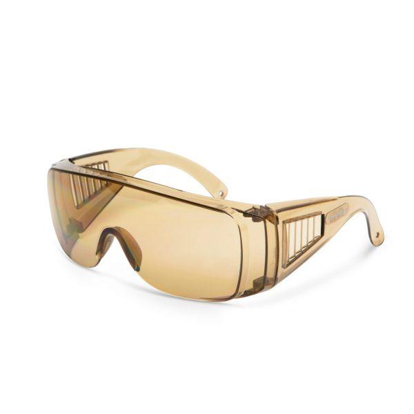 Professzionális védőszemüveg UV védelemmel amber