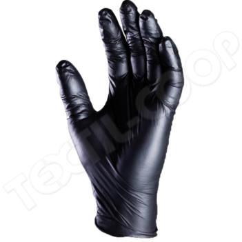 Fekete nitril kesztyű púder nélküli 9- L 100 db/csomag