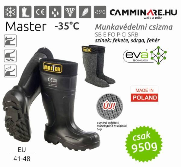 Camminare – MASTER EVA munkavédelmi csizma FEKETE (-35°C)