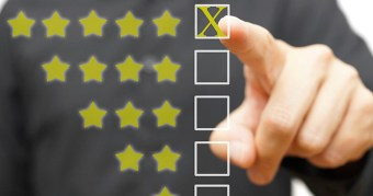 5 star rating on a survey