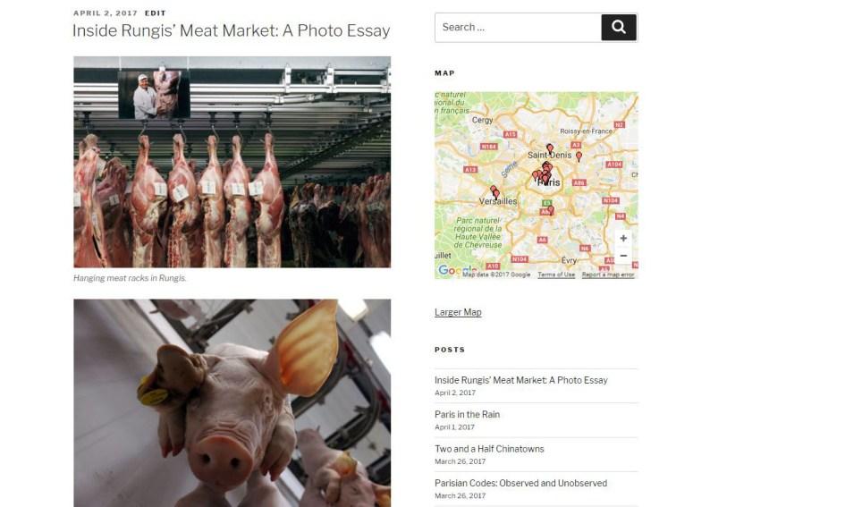 blog post describing Rungis's Meat Market in Paris