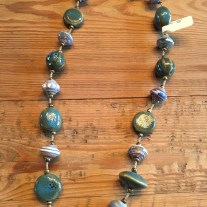 green mixed bead necklace