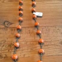 orange clay necklace (short)