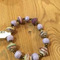 lilac mixed stretch bracelet