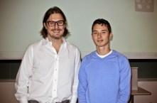Dr. Matei Radulescu with student She-Ming (Shem) Lau-Chapdelaine.