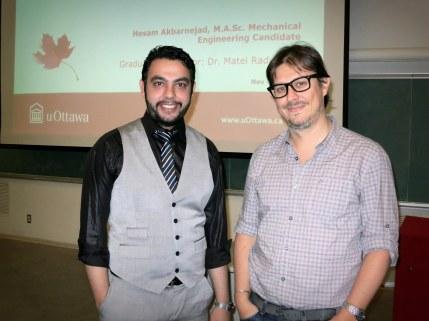 Hesam Akbarnejad with supervisor Dr. Matei Radulescu.