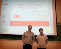 Rohit Bhattacharjee with supervisor Dr. Matei Radulescu.