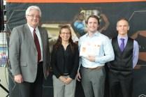 Dan MacDonald with me, Dean Lague (L) and former department chair, Dr. Bertrand Jodoin (R).