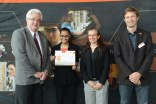 Aditi Khandelwal with me, Dean Lague (L) and Civil Engineering department chair, Dr. Colin Rennie (R).